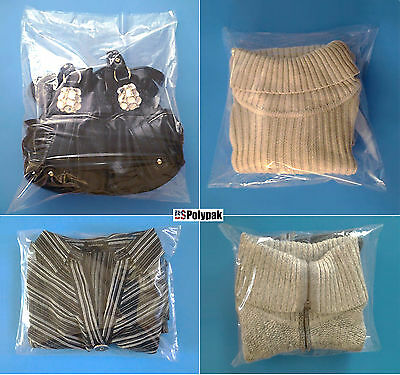 100-12x20 Clear Poly Plastic Bags Packaging Shipping Lay-flat Baggie 1 Mil FDA