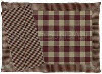 York Wine Placemats & Napkins By Park Designs, Traditional Check, Choice Of Set