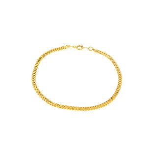 Armband-aus-Metall-Gold-Farbig-fuer-Damen-und-Herren-Armbaender-schlicht-21cm-lang