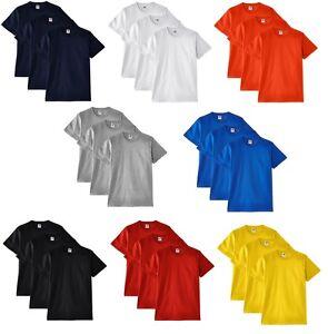 Paquete-De-3-Hombre-Fruit-of-the-Loom-Algodon-Grueso-Llano-En-Blanco-Camiseta