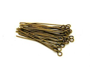 15g-x-Mixed-Size-Antqiue-Bronze-Coloured-Eye-Pins-Jewellery-R146