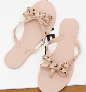 Crystal-Thong-Sandals-Jelly-Flip-Flop-Clinch-Bolt-Wome-Summer-Flat-Rivet-Bowknot