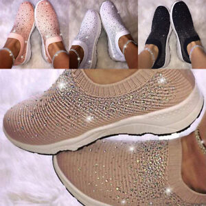 Women-039-s-Sneakers-Flying-Woven-Air-Cushion-Breathable-Running-Walking-Sport-Shoes