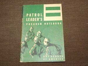 VINTAGE BSA BOY SCOUTS OF AMERICA 1965 PATROL LEADER'S PROGRAM NOTEBOOK BOOK