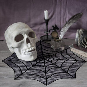 Lace-Spider-Web-Table-Topper-Cobweb-Fireplace-Mantel-Scarf-Cover-Halloween-Decor