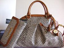 Brahmin Louise Rose Black Java Leather Satchel Bag + Checkbook Wallet NWT~RARE~