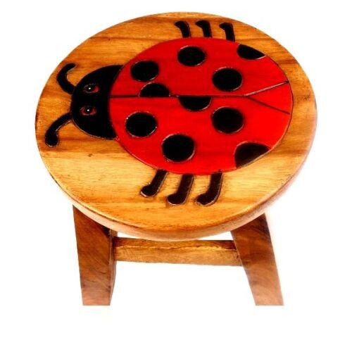 Kinderhocker Käfer Hocker Rundhocker Holzhocker Sitz Stuhl Kinderstuhl Holz neu