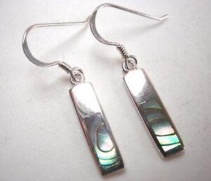 Abalone-Rectangle-Bars-Dangle-Earrings-925-Sterling-Silver