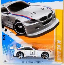 2012 Hot Wheels NEW MODELS #18/50 * BMW z4 M * WHITE VARIANT