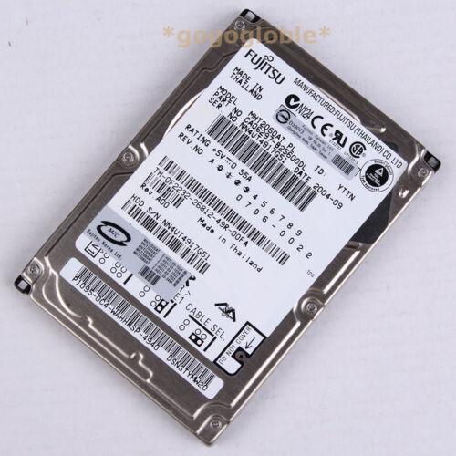 """1 of 1 - Work FUJITSU MHT2060AT 60 GB 4200 RPM 2.5"""" PATA/IDE 2 MB HDD Hard Disk Drives"""
