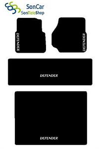 4decori Land Rover Defender Teppich-Fußmatten Post.uniti+Kofferraum+4blok