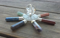 7 Chakra Spinning Merkaba Natural Gemstone Energy Generator