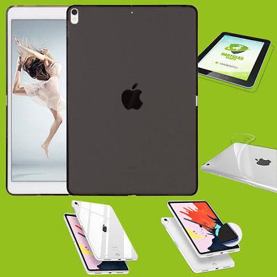 Per Apple Ipad Pro 11.0 Pollici 2018 Nera Guscio Custodia Cover + H9 Vetro Duro Case- Luminoso A Colori
