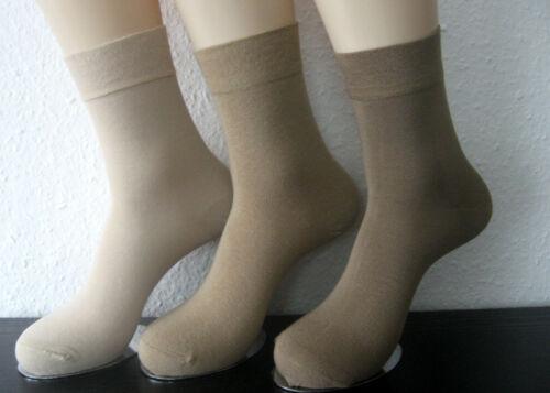 3 par calcetines bambú brevemente de la Hermandad sin goma 3 tonos naturales 39 hasta 46