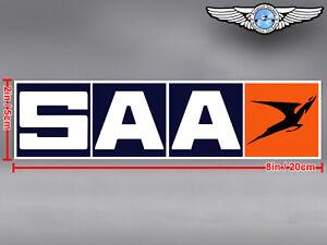 OLD SOUTH AFRICAN AIRWAYS SAA RECTANGULAR LOGO DECAL / STICKER