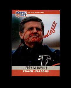 Jerry Glanville Hand Signed 1990 Pro Set Atlanta Falcons Autograph