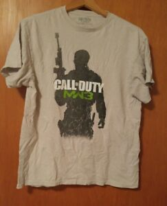 000-Call-of-Duty-MW3-Modern-Warfare-Shirt-Large-Light-Gray
