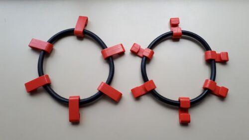 SCC SZ143 SECURITY CHAIN QUIK GRIP Tire Snow Chain Rubber Tightener *Set of 2