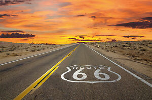 Fototapete-Route-66-Wandbild-Amerika-Poster-Motiv-by-GREAT-ART
