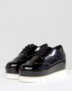 NEW ASOS BLACK FAUX PATENT LEATHER