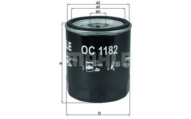 KNECHT Filtro de aceite Para MAZDA 3 6 5 MX-5 CX-7 CX-5 MPV BT-50 OC 1182