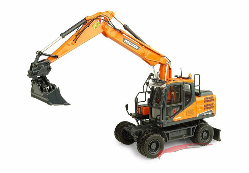 Doosan DX160W Wheeled Excavator 1 50 50 50 Scale Die-Cast Model UH8134 Collection Gift ac4