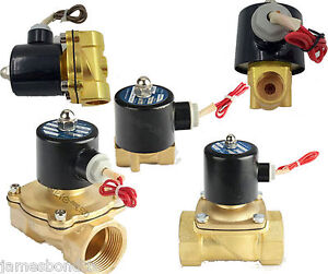 """G 1-1//4/"""" BSPP 2W-320-32 Brass Electric Solenoid Valve Water Oil Air N//C DC 12V"""