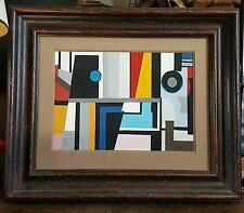 Composition cubiste contructiviste de style Art déco Bauhaus