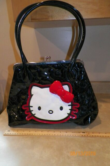 tote Sanrio Hello Kitty White and Pink Glitter Messenger Bag