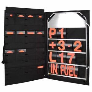 Bg-Racing-Gross-4-Reihe-Pit-Platte-Set-Orange-Zahlen-Tasche