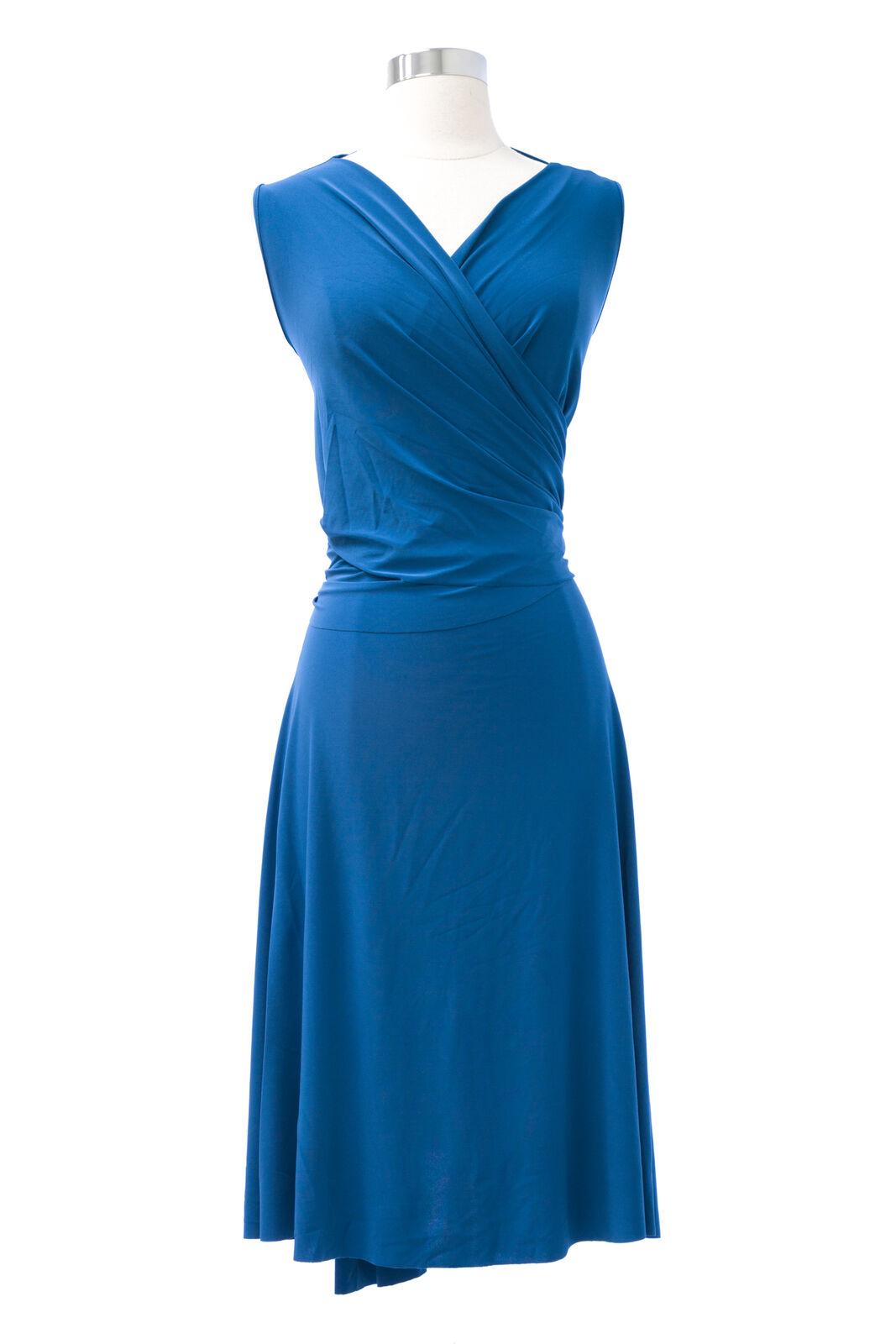 VON VONNI Women's Teal Sleeveless Wrap Dress 1003AAP Sz s NEW