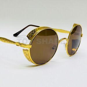 f9ebaa5c1051 Fashion Gold Metal Frame Migos Designer Quavo Round Steampunk Style ...