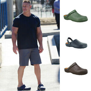 Mens-Clog-Summer-Beach-Holiday-Pool-Flat-Comfy-Summer-Walking-Casual-Shoes-Size