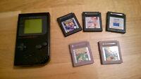 Nintendo Gameboy Classic schwarz + 4 SPiele Handheld Konsole Kinder Spiele Kult