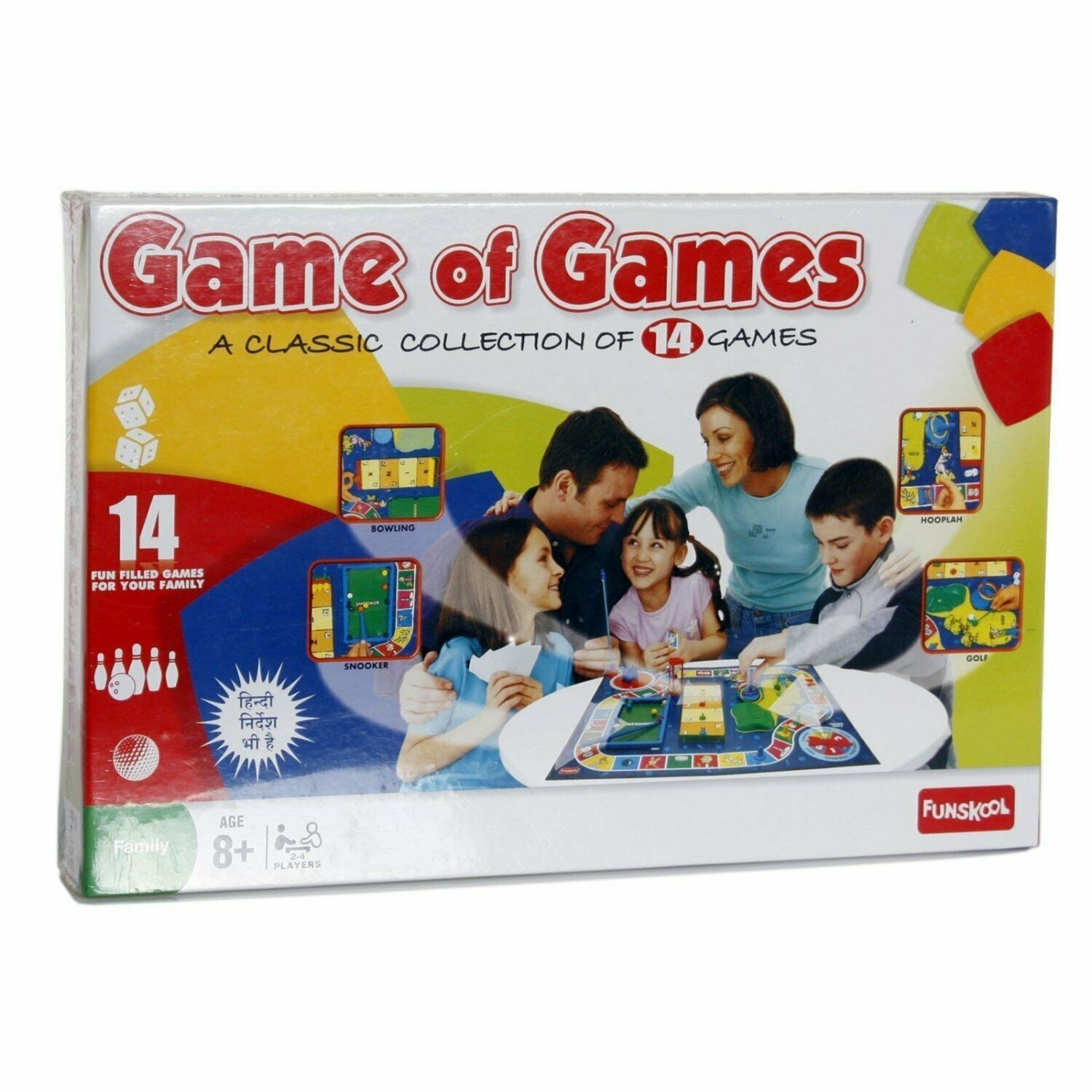 Funskool Game of Games 2-4 Players, Age 8+ Free Shipping Worldwide