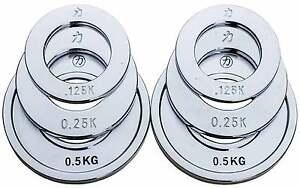 FITEK Premium Fractional Weight Plates Package 0.25-1.0KG