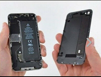 Details about  Genuine Glass Replacement Back for Apple iPhone 4 4S Rear Batter