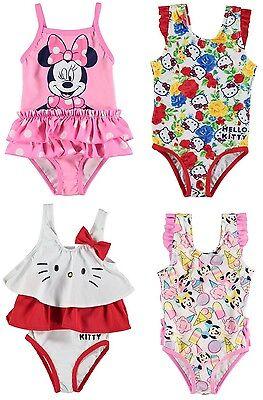 WunderschöNen ✅ Disney Minnie Mouse Maus Hello Kitty Baby Mädchen Badeanzug Bademode Schwimm