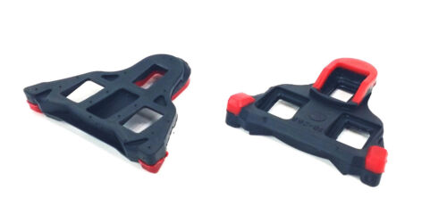 Red Shimano SPD-SL Compatible Road Bike Pedal Cleats