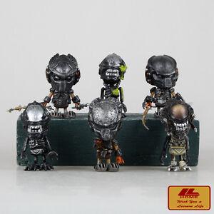 Hot-Toys-AVP-Alien-vs-Predator-Requiem-Mini-Cosbaby-6pcs-8cm-PVC-Figures-Set-NIB