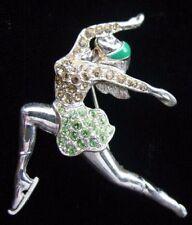 Vintage MONET Rhinestone ICE Dancer FIGURE SKATER Figural PIN/Brooch, fjt