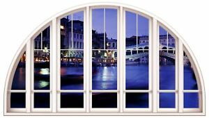 Huge-3D-Arched-Window-Venice-at-Night-View-Wall-Stickers-Film-Mural-Art-Decal-4