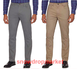 NWT-DKNY-Men-039-s-Brushed-Twill-Pant-Bedford-Slim-Straight