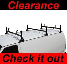 Chevy Express Fullsize Van 3bar 1996-16 Ladder Roof Racks Steel BLACK New Rack