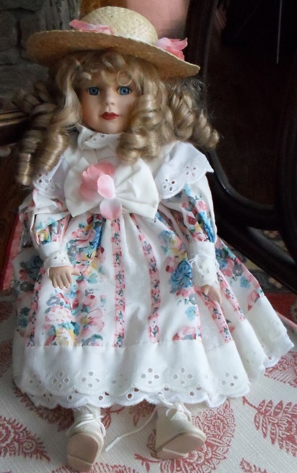 """NEW 16"""" BLOND VICTORIAN STYLE DOLL"""