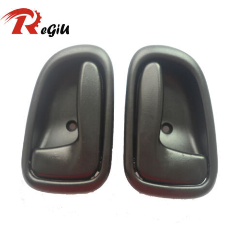 4 New Inside Left and Right Gray Door Handle for 93-97 TOYOTA COROLLA