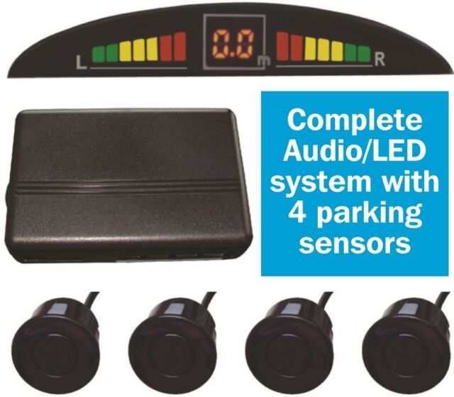 Car Reversing Reverse Parking System Sensors with Audio Warning & LED Display
