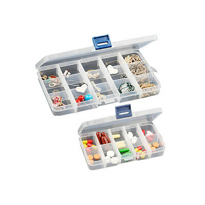 New Plastic Slot Jewelry Adjustable Tool Box Case Craft Organizer Storage 3 Size