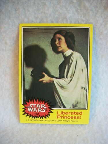 Star Wars Série 3 amarelo Topps 1977 Cartão Para Colecionadores # 192 liberaiso Princesa