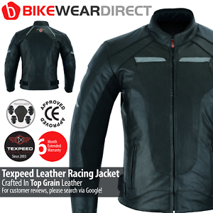 Leather Motorcycle Motorbike Jacket Biker Racing Suit With Genuine CE Armour